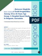 JOHCD-Relationship Between Gingivitis and Anterior Teeth Irregularities