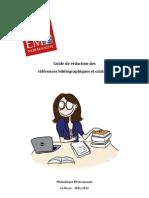 Guide de rédaction des références bibliographiques 2011/2012