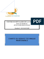 CHARTE DU SERVICE TECHNIQUE MAINTENANCE (adapté)