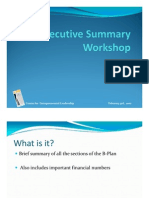 How to write an Executive Summary for your B-Plan