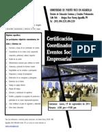 Certificación Coordinador de Eventos Social y Empresarial