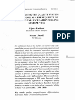 Establishing the Quality System Framework as a Prerequiste of Building VCS System