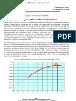 IBGE, 2011 - Projeção da população do Brasil
