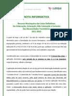 Nota Informativa – Recursos Hierárquicos; 2011.ago.31