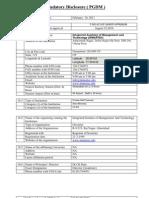Mandatory Disclosure PGDM