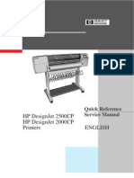 HP Designjet 2500cp-2000cp Quick Reference Service Manual