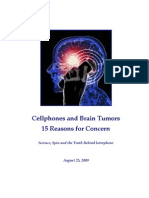 Cellphones and Brain Tumors - 15 reasons for concern