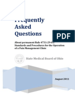 Pain Management Clinic FAQ Rule 4731-29-01 - August 2011