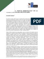 """Ciudadanía y """"nuevas democracias"""" en la américa del sur del bicentenario - Gerardo Caetano"""