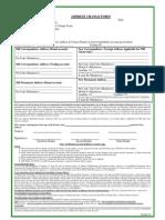 Address Change Form