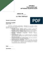 Model Anexa Fisa Postului