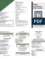 Church Bulletin -September 4th