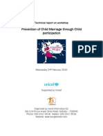Technical Report on Workshop Prevention of Child Marriage Through Child