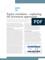 Barclays Capital Equity Correlation Explaining the Investment Opportunity