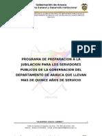 Programa de Retiro Laboral Gobernacion de Arauca 4 de Mayo