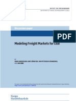 Modeling Freight Markets for Coal