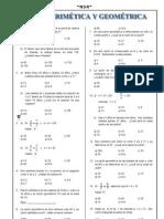 9º ficha razón aritmetica y geometrica