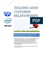Building Good Customer Relationships