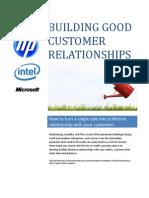 Building Good Customer Relationships