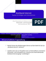 Broadband Internet in Germany - value for citizens and businesses (German)