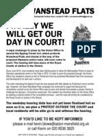 Court Hearing Flyer