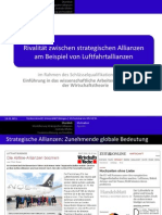 Rivalry between strategic alliances - airline alliances (German)