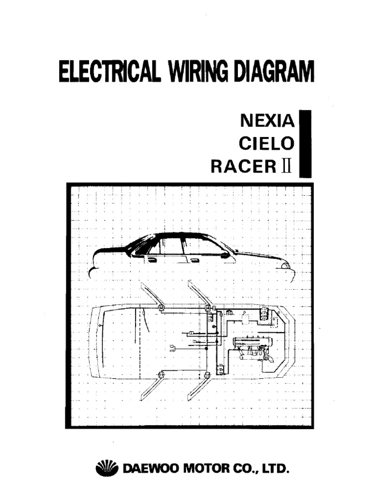 daewoo nexia cielo racer electrical wiring diagram rh scribd com daewoo cielo electrical wiring diagram daewoo cielo wiring diagram download