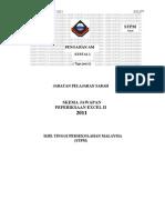 Skema Jawapan Excel p.am 2 2011. Stpm 2011 Trial Sabah