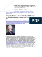 Thomas Jefferson used Vattel's Law of Nations to Write Founding Documents