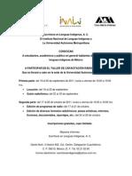 Convocatoria Capacitación Radiofónica UAM INALI ELIAC
