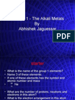 Group 1 in Periodic Table by Abhishek Jaguessar
