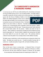 2011. Dementia Caregiver's Handbook for Nursing Homes