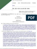 Lei_8906 Estatuto Da OAB - Comentado Pelo STF