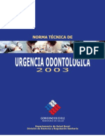 Norma Técnica de Urgencia Odontologica