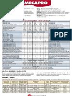 Especificaciones técnicas Fresadoras 3 Ejes Mécanuméric MECAPRO para mecanizado CNC