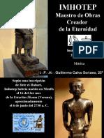 Imhotep Maestro de Obras - El Creador de la Eternidad