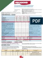 Especificaciones técnicas Fresadoras 4 EjesMécanuméric MECABOND para trabajar con composites, alucobond, dibond, etc...