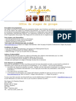 Offre de stagiaires - 2011-2012