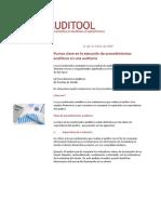 Auditoool Puntos Clave en La Ejecucion de Procedimientos cos en Una Auditoria