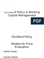 Dividend Policy & Working Capital Management