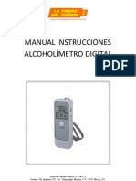 Alcoholímetro digital