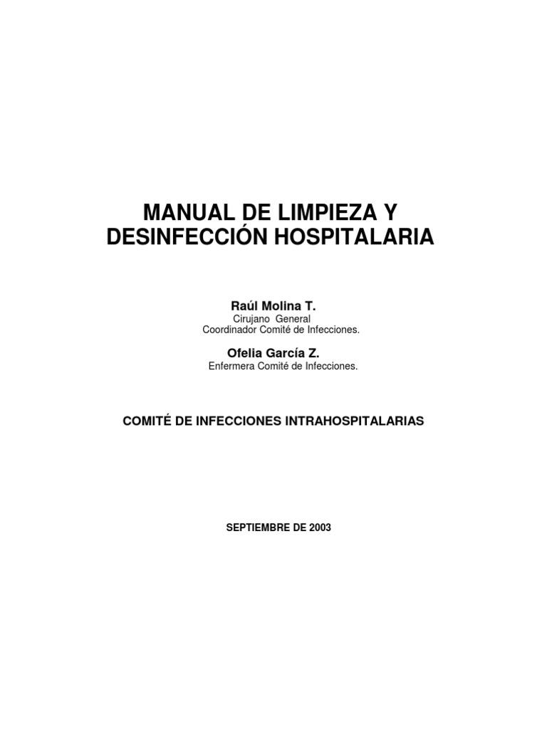Manual de limpieza y desinfeccion hospital aria for Manual de limpieza y desinfeccion en restaurantes