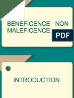 Beneficence Non Maleficence