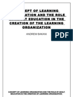 THE CONCEPT OF LEARNING ORGANIZATION