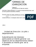 FORMAS DE ORGANIZACION