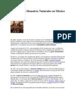 Los Peores Desastres Naturales en México