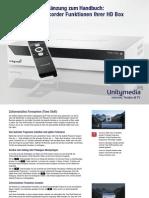 Kurzanleitung HD Recorder