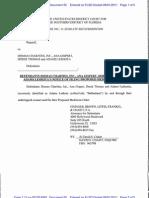Defendants Dismas Charities,Inc.,Ana Gispert,Derek Thomas and Adams Leshota's Notice Of Filing Proposed Mediation order