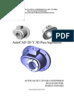 Autocad 2d y 3d Para Ingenieros