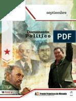 Documento Político Septiembre